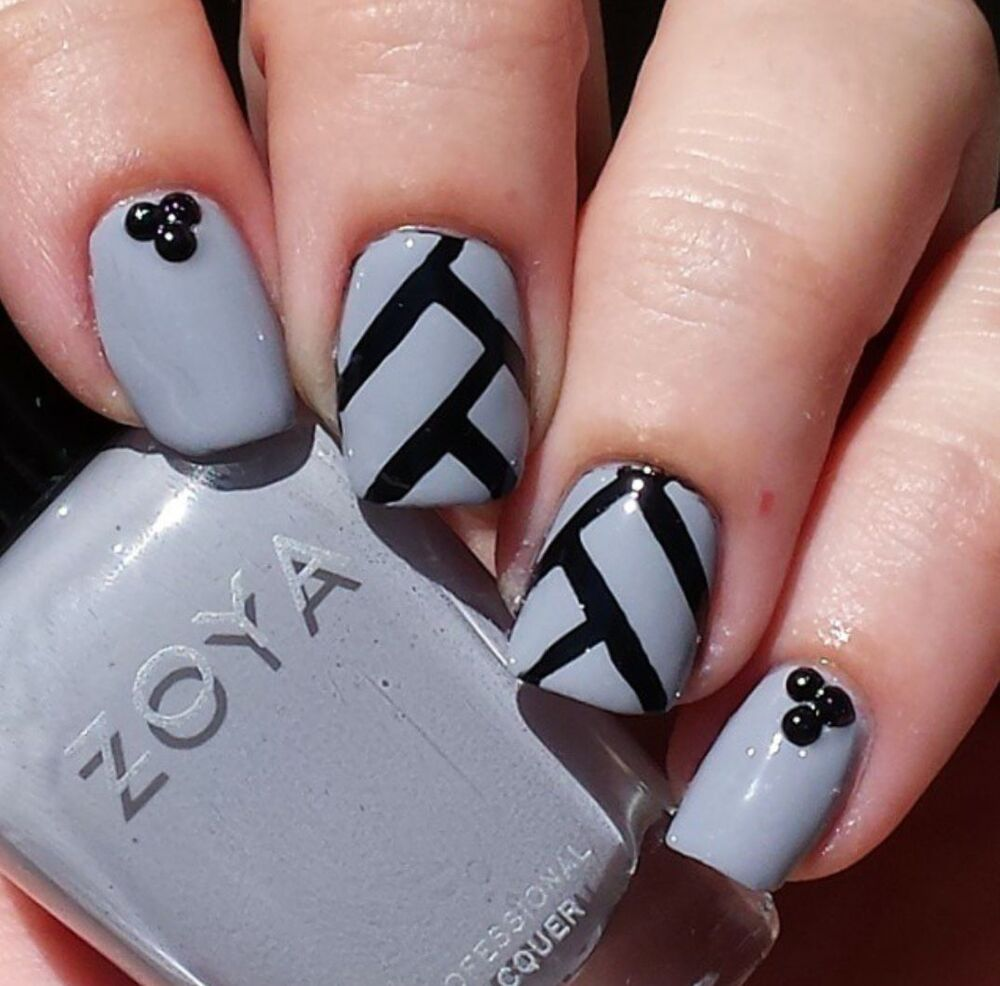 herringbone nail stencil vinyl decal art ebay. Black Bedroom Furniture Sets. Home Design Ideas