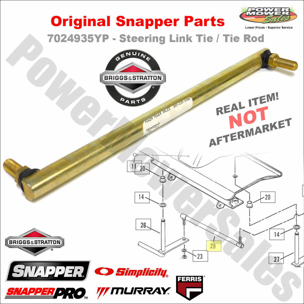 Tractor Steering Bar : Yp steering link tie rod for snapper rear engine