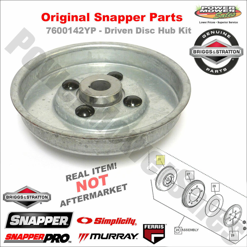 7600142YP - Driven Disc Hub Kit for Snapper Rear Engine Riders- OEM Snapper  Part | eBay