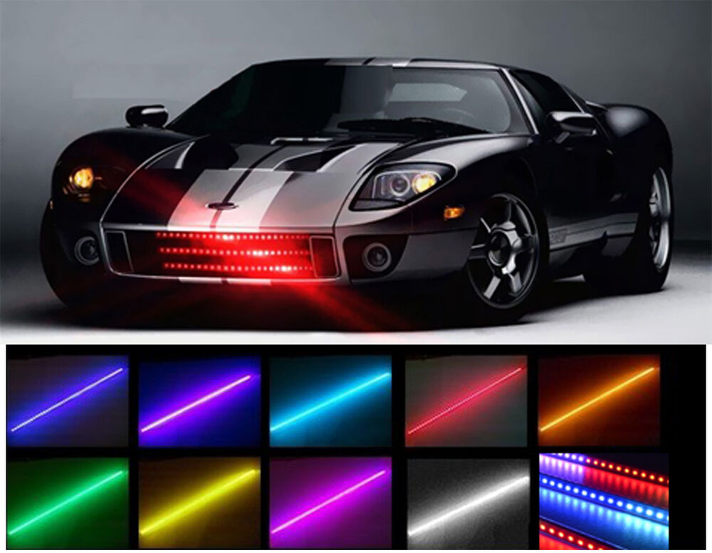 7 color 48 led rgb waterproof knight rider led light. Black Bedroom Furniture Sets. Home Design Ideas