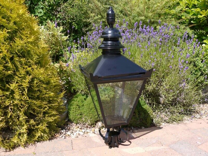 Large Traditional Black Victorian Lantern For Lamppost