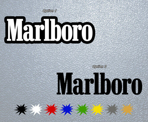sticker pegatina decal vinyl autocollant aufkleber marlboro ebay. Black Bedroom Furniture Sets. Home Design Ideas