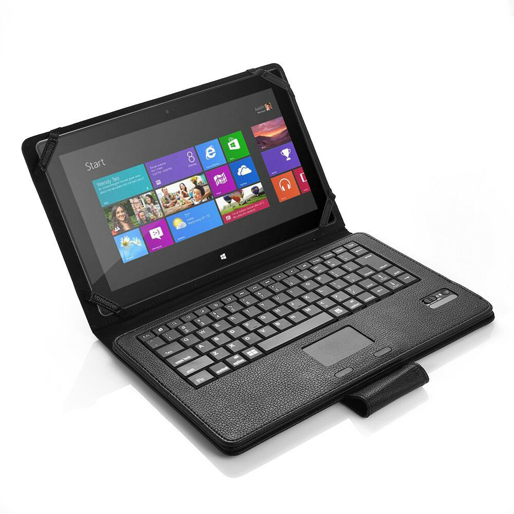 """For Microsoft Surface 2 Surface RT 10.6"""" Leather Case Cover + Bluetooth Keyboard"""
