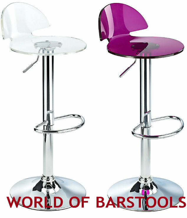 Quot Allure Quot Acrylic Swivel Bar Stool Ebay