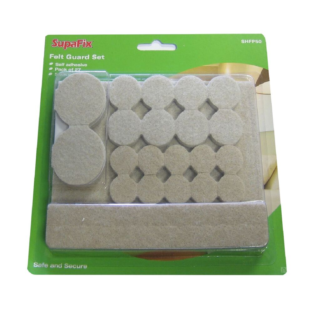 27 Pack Self Adhesive Felt Pads Furniture Floor Protection Chairs Laminate Ebay