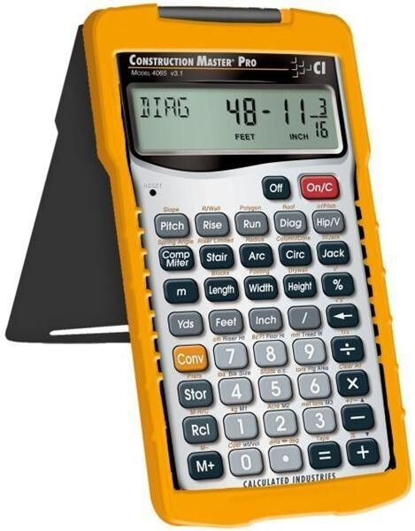 Calculated industries construction master pro 4065 for New home construction calculator