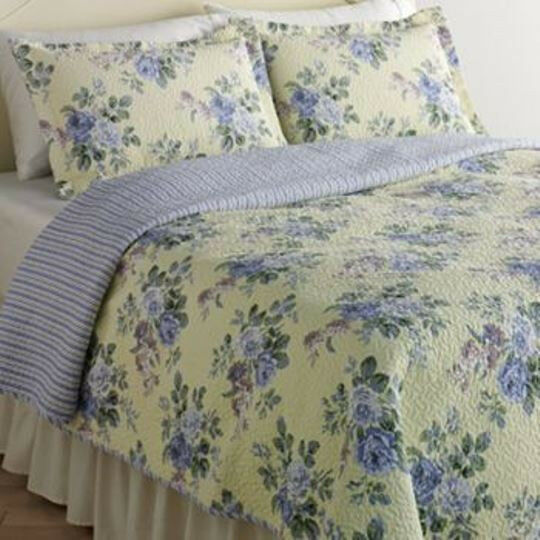 Chic Laura Ashley Reversible Linley Twin Quilt Standard Sham Dorm Shabby Nwop Ebay