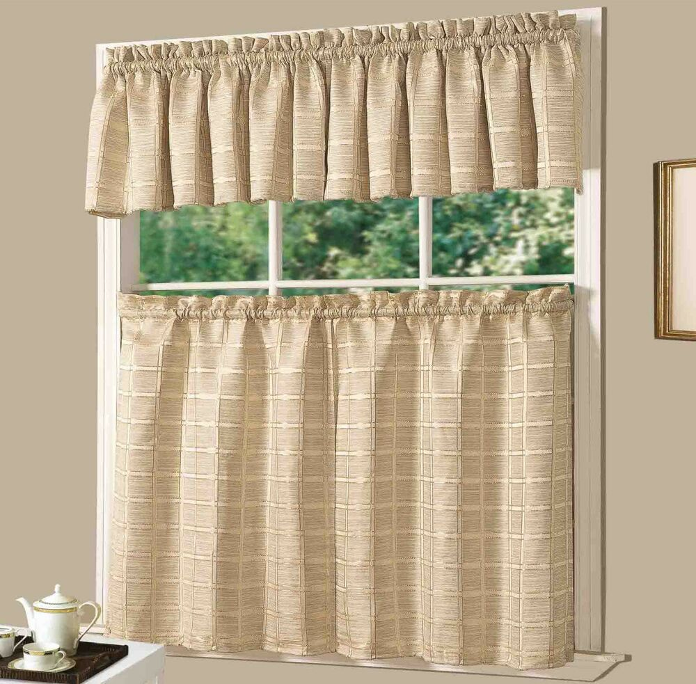 Country Red Kitchen Curtains: Jeanette Plaid Kitchen Curtain Set