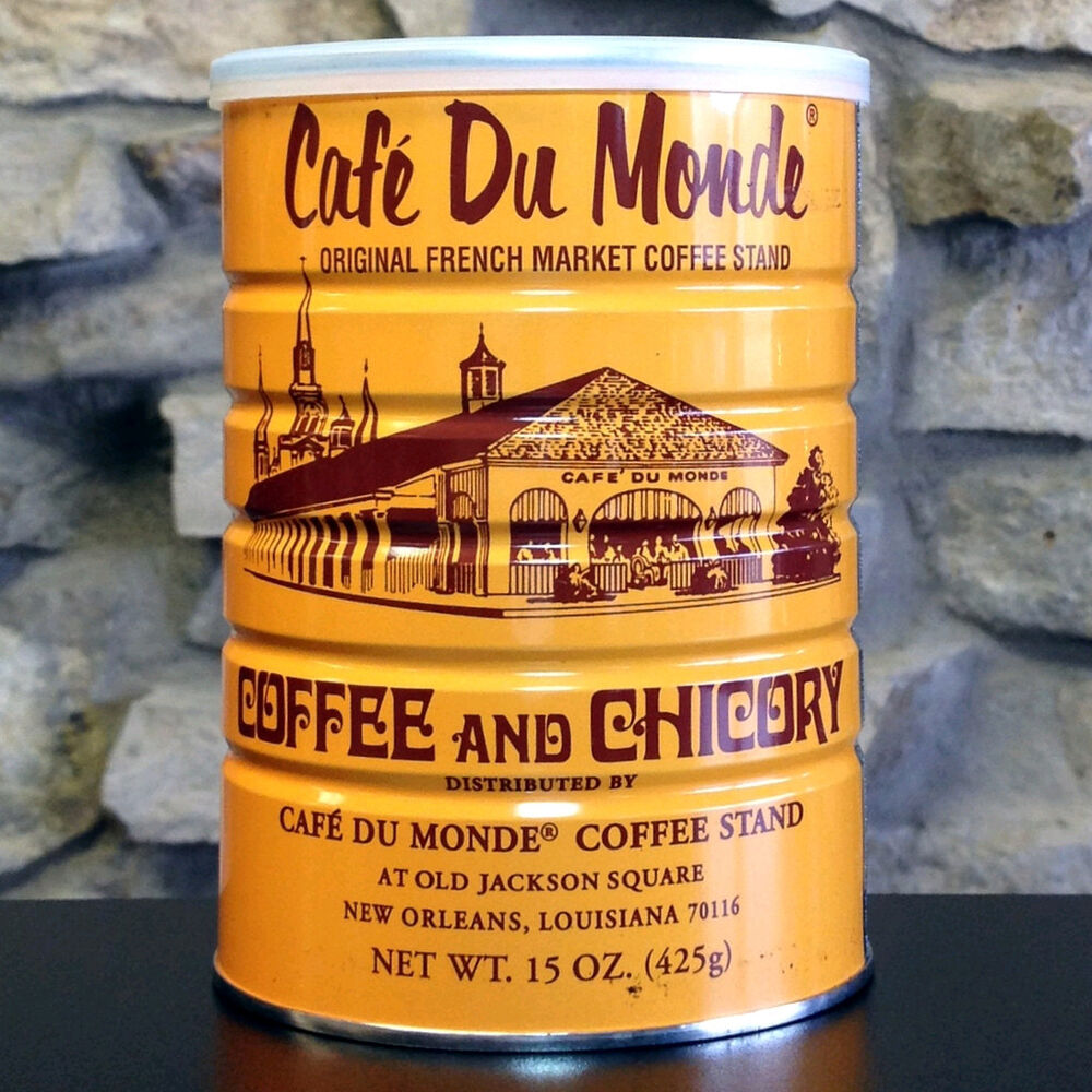 Chicory Coffee Cafc Du Monde Coffee And Chicory 15 Oz Each Can Ebay