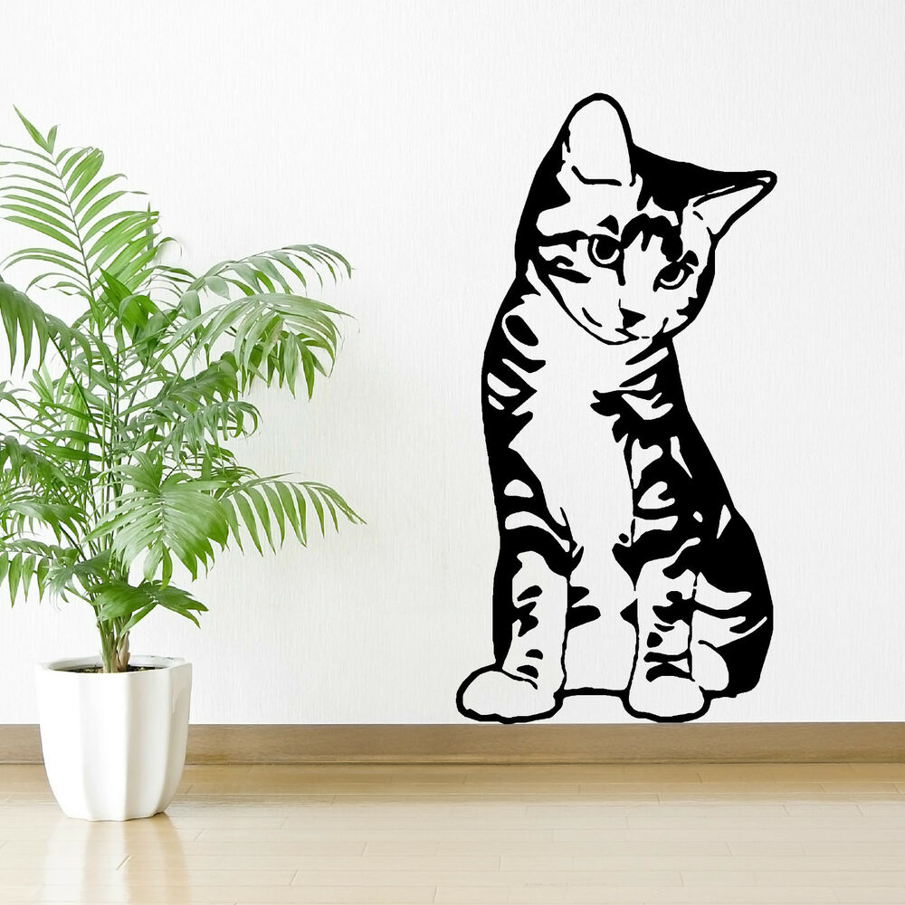 Kitten Cat Feline Pet Seated Sitting Vinyl Wall Art. Drama Murals. Tree Trunk Stickers. Daughter Stickers. Innovative Banners. Thinkpad Keyboard Stickers. Book Lettering. Xerostomia Signs. Game Decals
