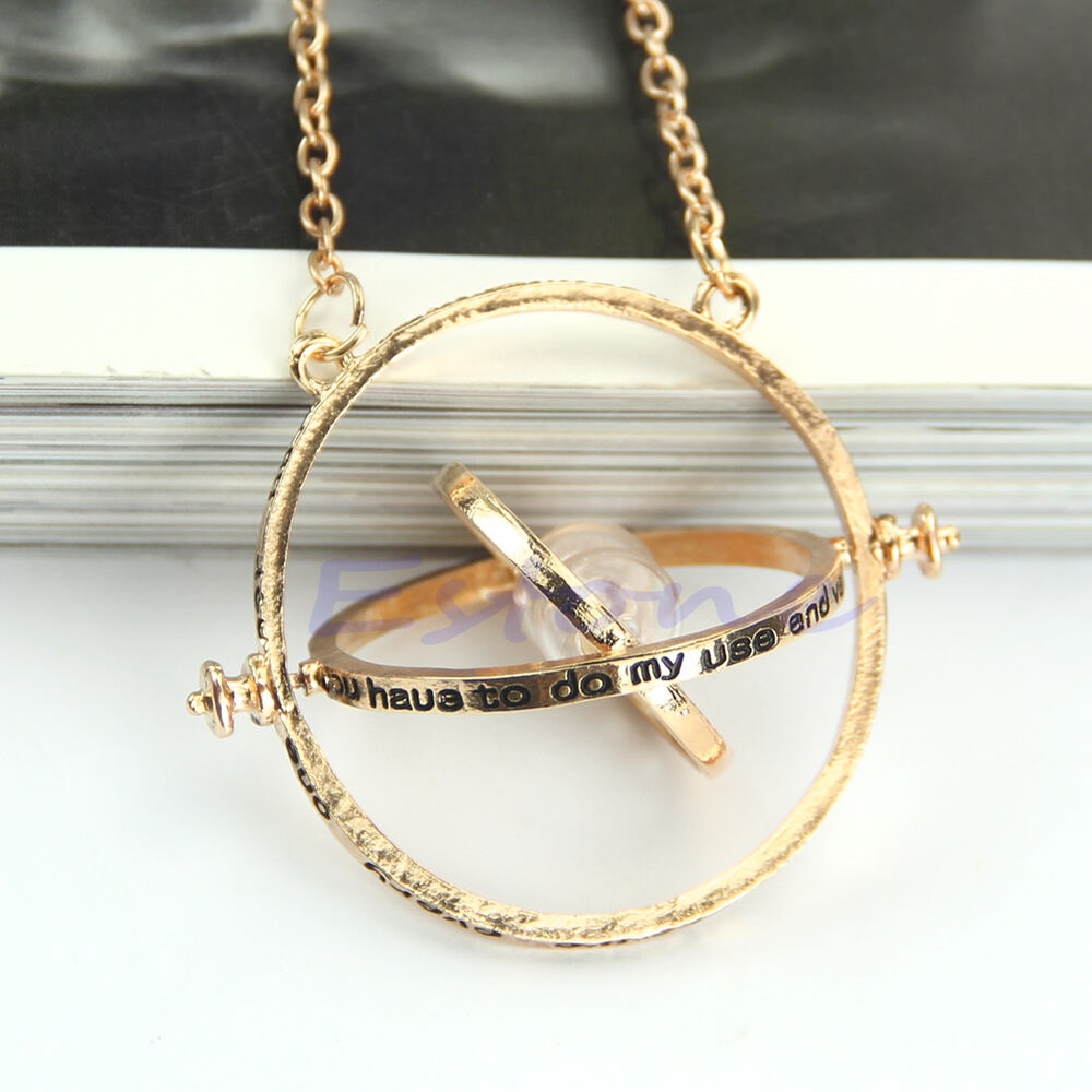 Gold Hourglass Time Turner Necklace Hermione Granger ...