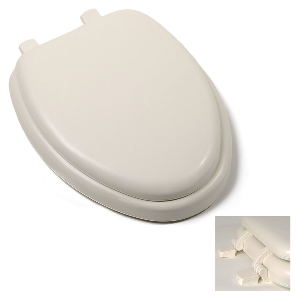 Premium Bone Soft Padded Elongated Toilet Seat Cushioned