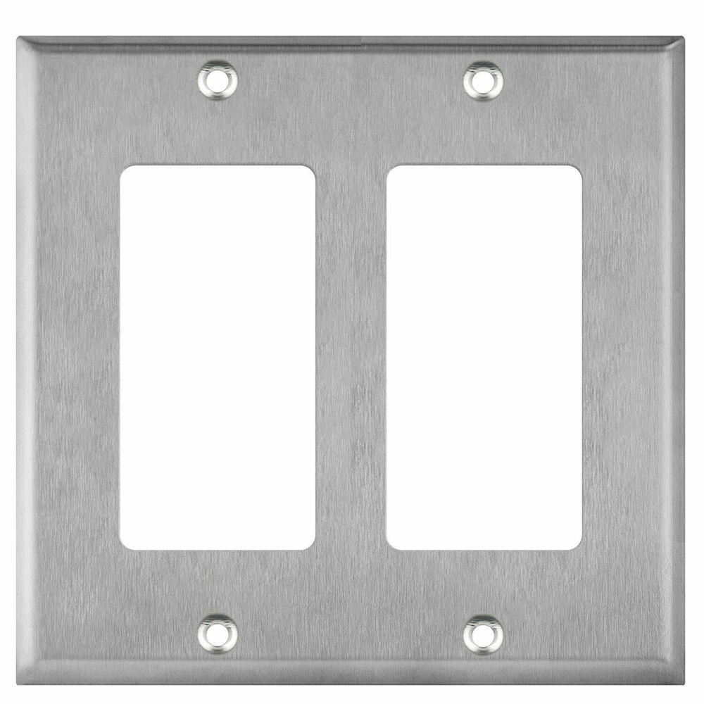 Gang brushed stainless steel toggle switch metal outlet
