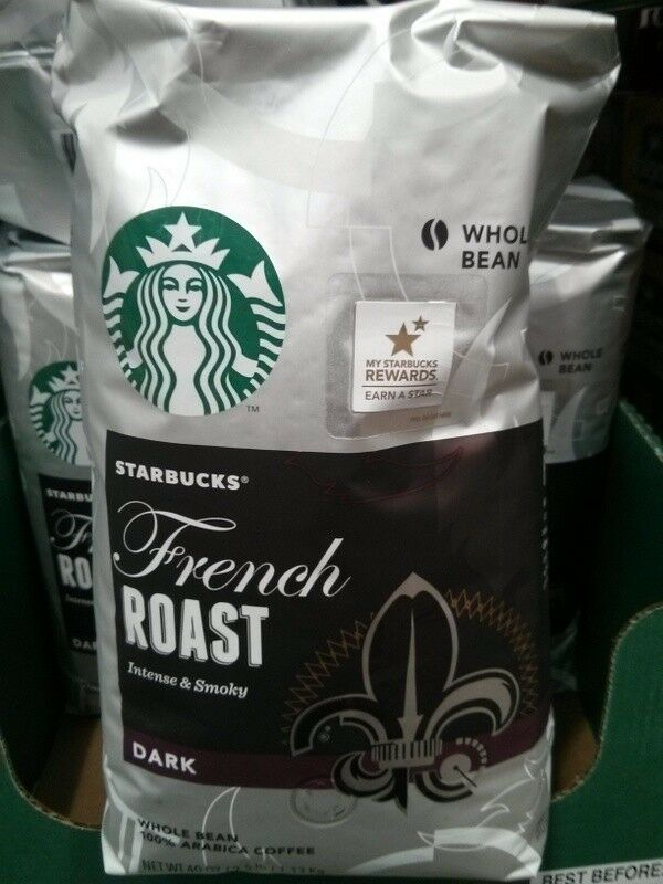 40oz Big Bag Starbucks French Roast Intense Smoky Dark