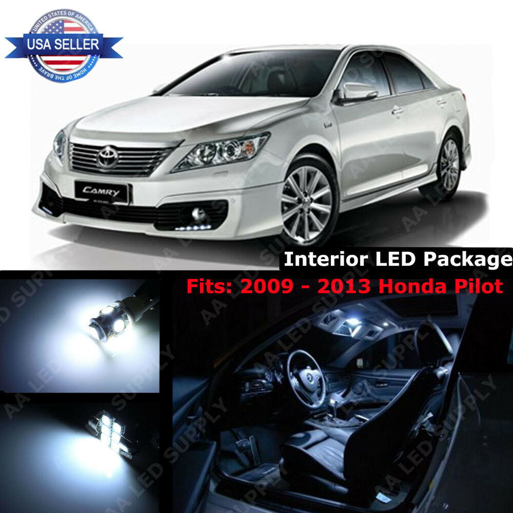 12x white led light interior package deal kit for 2012 2013 2014 toyota camry ebay. Black Bedroom Furniture Sets. Home Design Ideas