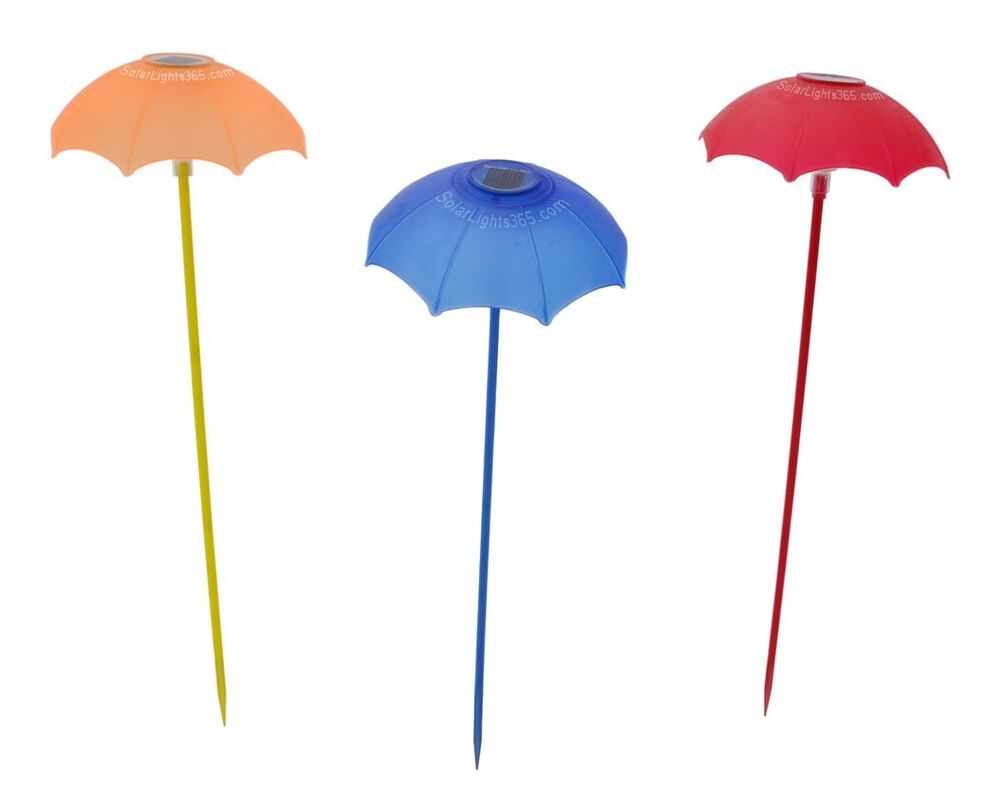 Solarwholesale 1017 a set of 3 glass flower garden decor for Flower garden decorations