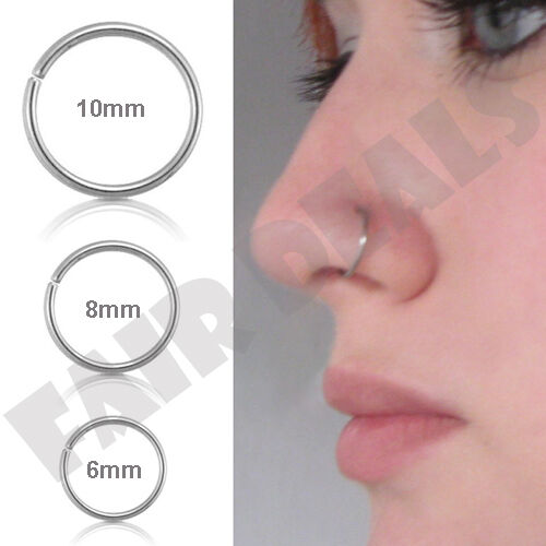 Small Thin 6mm 8mm 10mm Eyebrow Nose Ear Steel Silver Stud