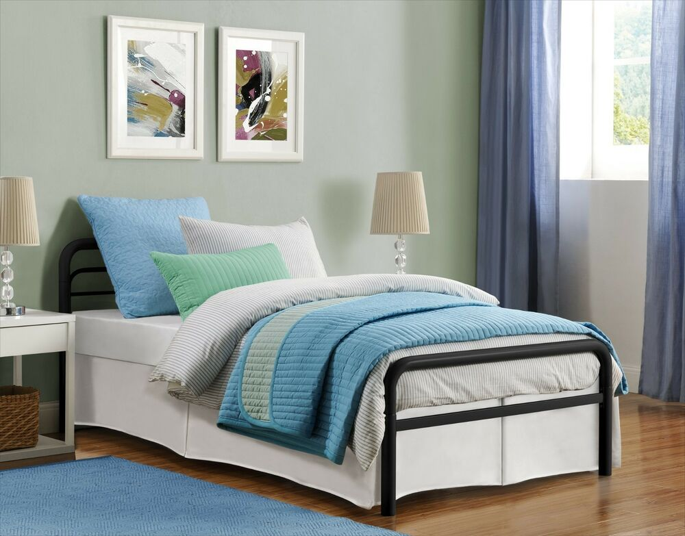 New Twin Size Metal Platform Bed Frame With Headboard