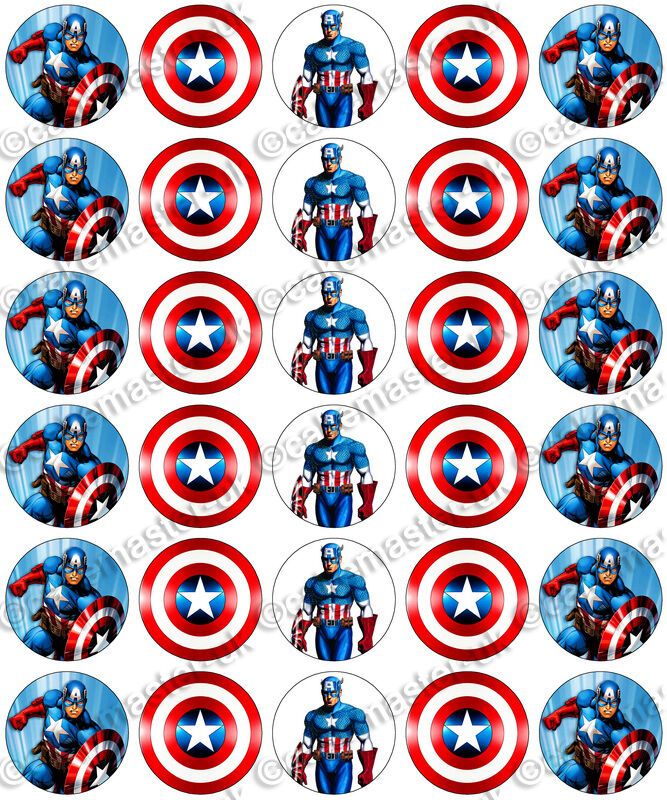Captain America Edible Cake Decorations