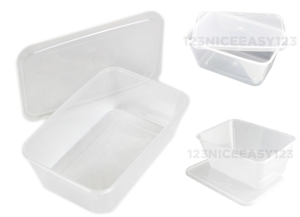 Disposable Food Containers 750ml Plastic Takeaway