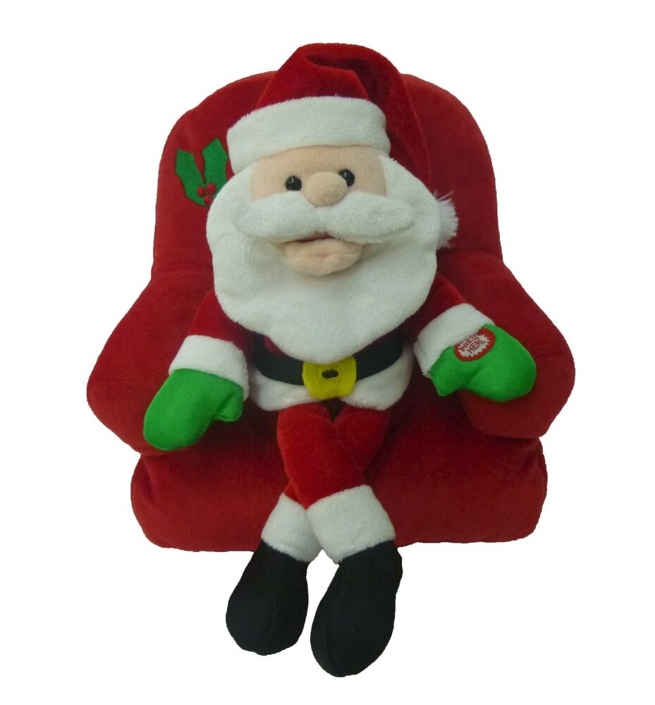 Cartoon Christmas Toys : Singing santa claus sofa chair animated plush christmas
