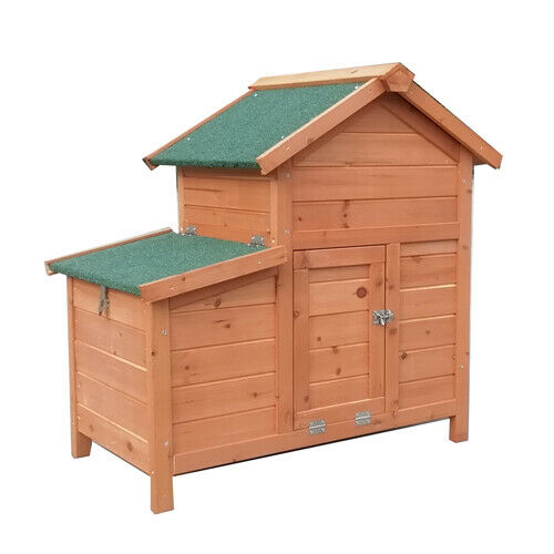 90 45 70cm rabbit ferret guinea pig cage run hutch with for Free guinea pig hutch