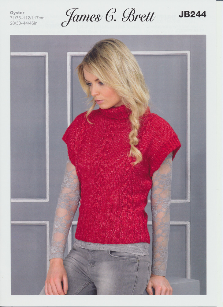 Knitting Pattern Roll Neck Jumper : Oyster Aran Knitting Pattern Womens Roll Neck Jumper Ribbed Sweater JB244 eBay