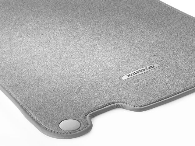 Oem genuine mercedes benz alpaca grey carpeted floor mats for Mercedes benz sl550 floor mats