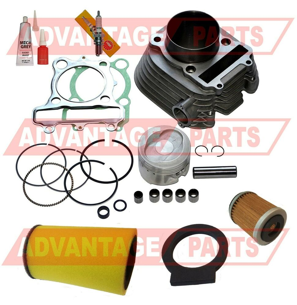 New Cylinder For Yamaha Timberwolf 250 Yfb250 Cylinder: New Yamaha TIMBERWOLF 250 CYLINDER PISTON GASKET TOP END