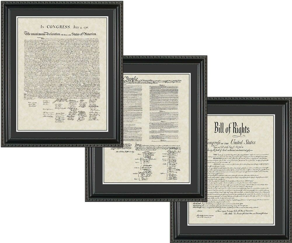 Wall Art Declaration Of Independence Bill Rights