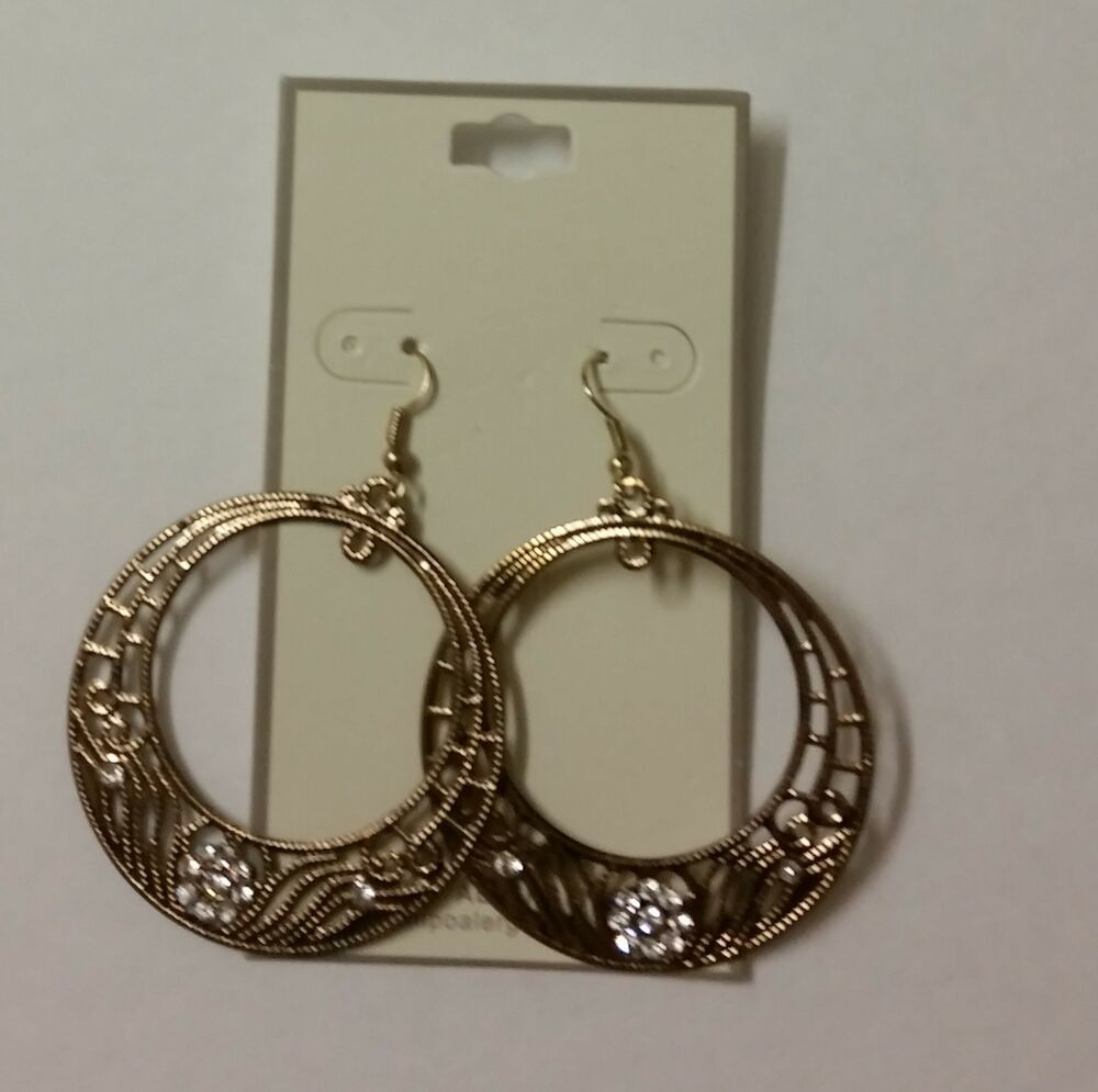 gold tone earrings fashion costume jewelry ebay