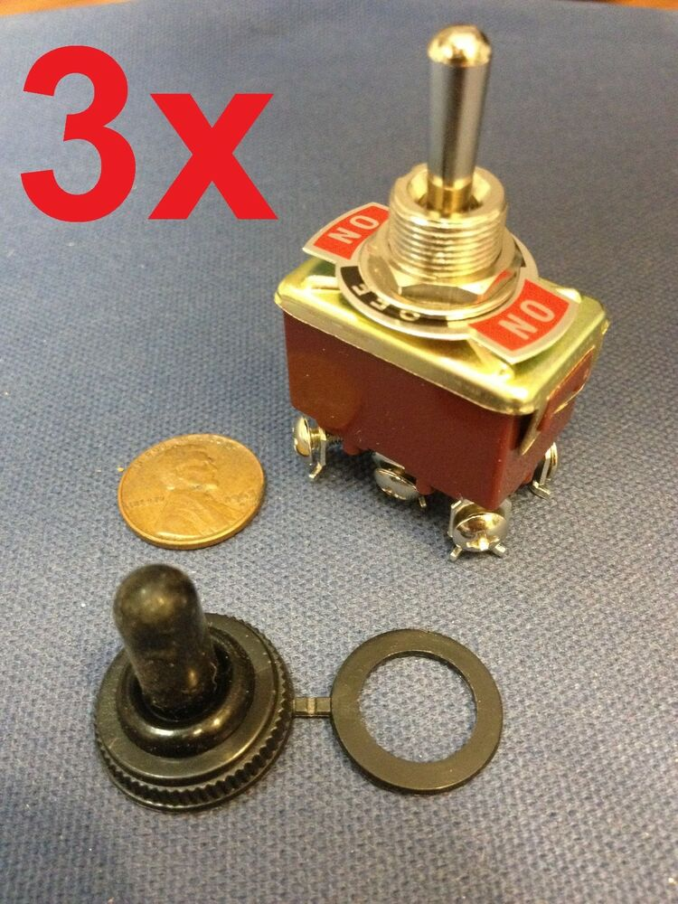 3 pieces red dpdt momentary switch on off on motor for Electric motor reversing switch