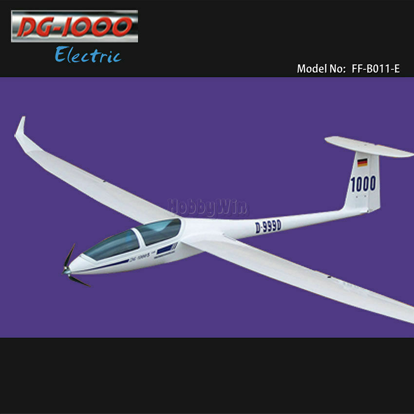 Dg 1000 Electric Glider 2630mm Arf With Motor Propeller R
