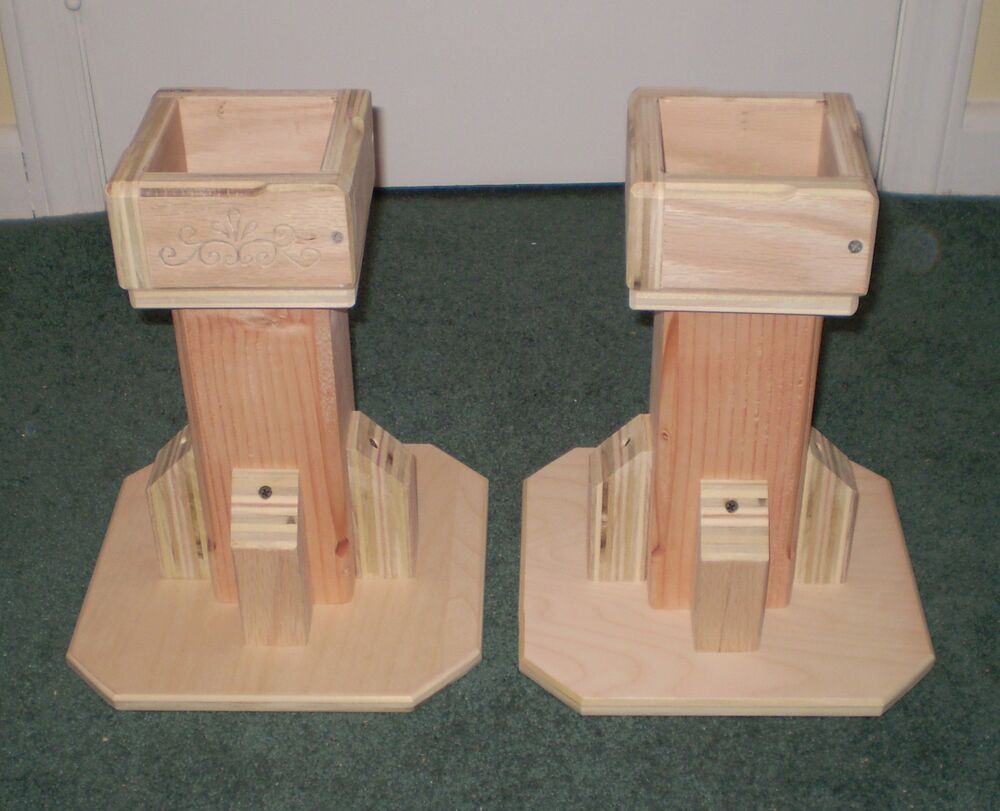 Very Sturdy Bed Risers 10 Inch All Wood Unfinished