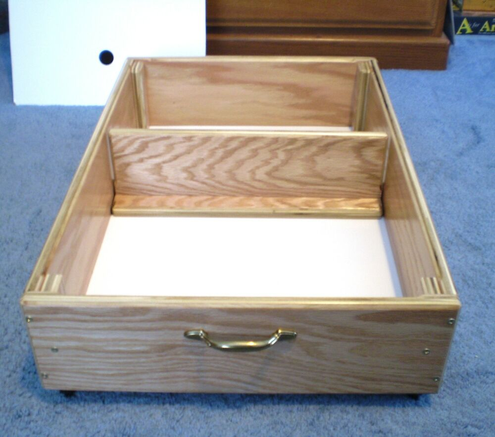 Under Bed Storage, 8 Inches Unfinished Rolling Drawer, Box ...