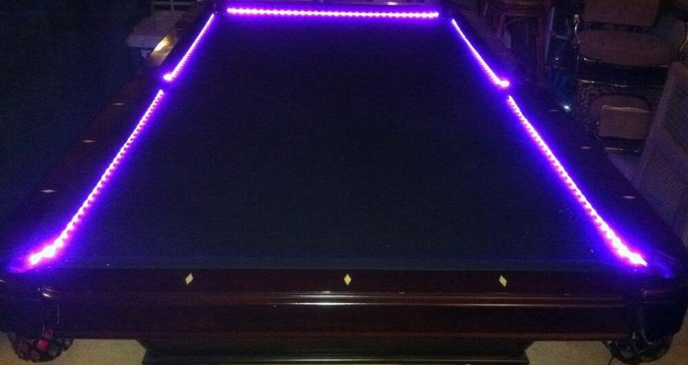 billiard pool table bumper led rgb color changing lights remote ebay. Black Bedroom Furniture Sets. Home Design Ideas