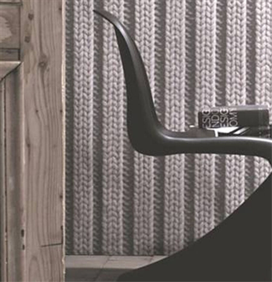 Knitting Wallpaper Uk : Sale faux wool wallpaper cable knit fabric