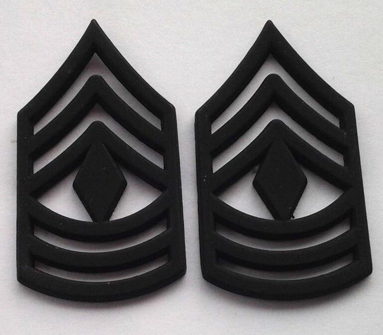 a88dabc502e Details about 1 PAIR (2) US ARMY RANK E8 1ST SGT Military Veteran Hat    Collar Pins P12756 EE