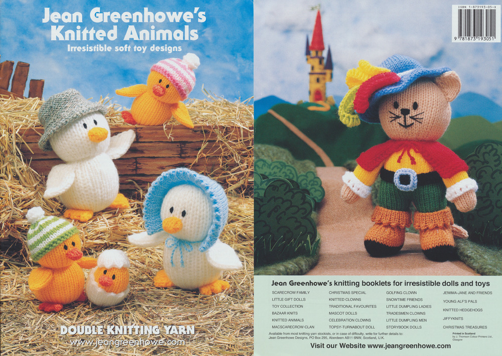 Knitting Animals Book : Knitted animals knitting book jean greenhowe patterns soft