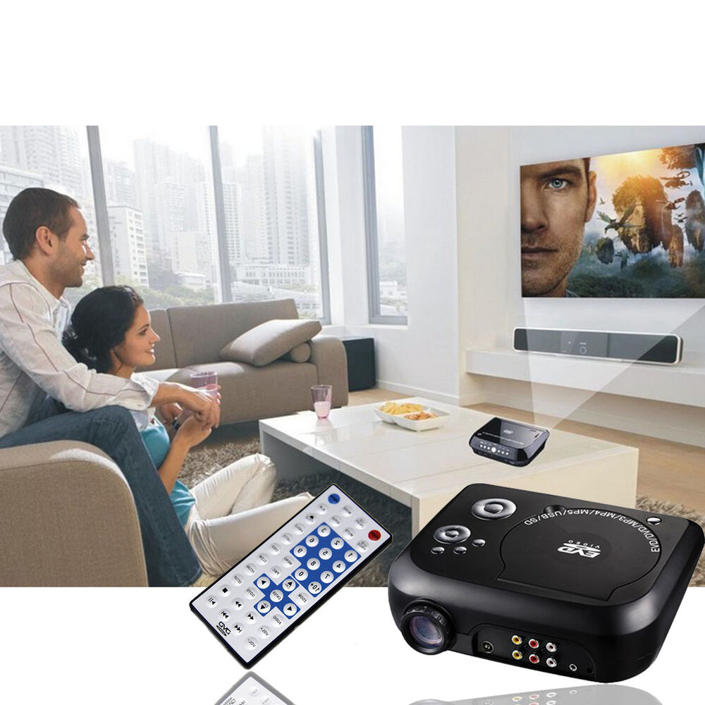 Ksd 288 Hd Dvd Projector Best New Hd Home Theater: NEW Stock Black Home Theater Projector Portable DVD Player