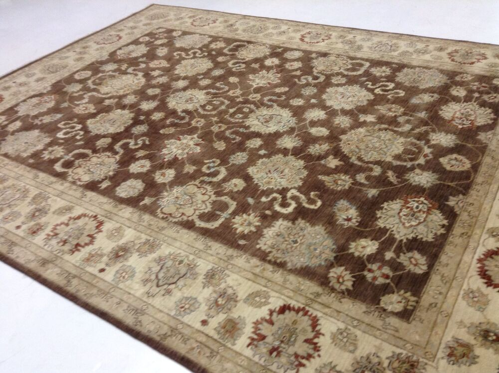 9 X 12 Persian Oriental Area Rug Brown Large Zigler Wool