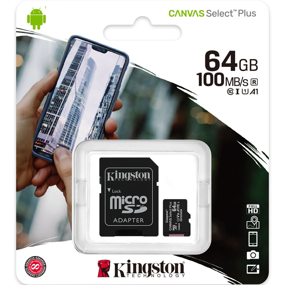 kingston 64gb micro sd sdxc microsd tf class 10 64g 64 gb advanced memory card ebay. Black Bedroom Furniture Sets. Home Design Ideas