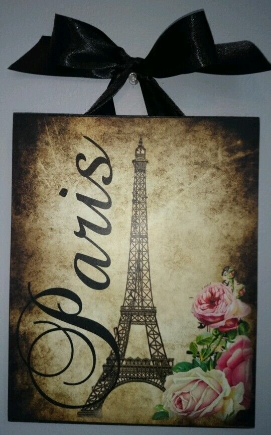 paris vintage french country cottage chic dark corners 8x10 wall decor ebay. Black Bedroom Furniture Sets. Home Design Ideas