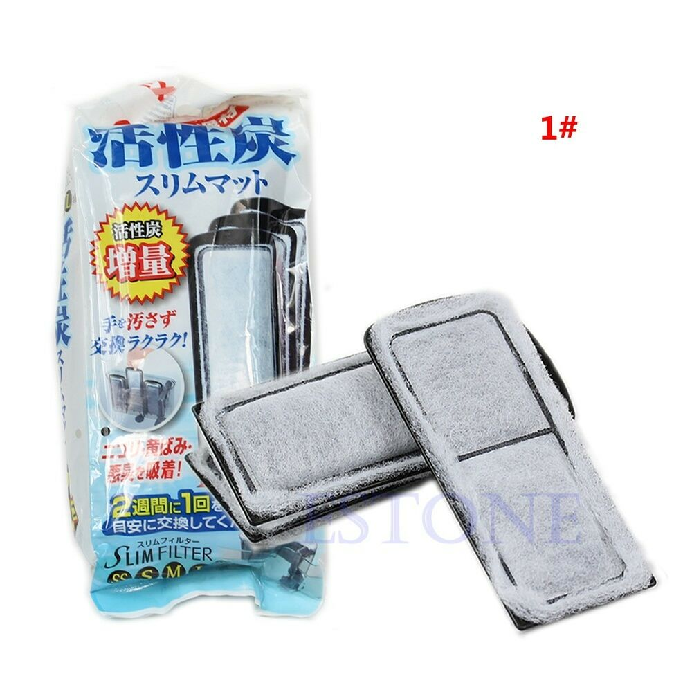 Aquarium slim replacement media tank filtration activated for Charcoal fish tank filter