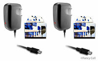 2 Universal Home Travel Micro USB Battery Wall Charger Adaptor For Cell Phones