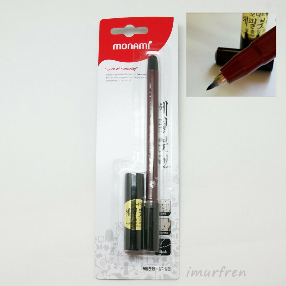 Monami Calligraphy Thin Brush Pen Refill Ink Cartridge