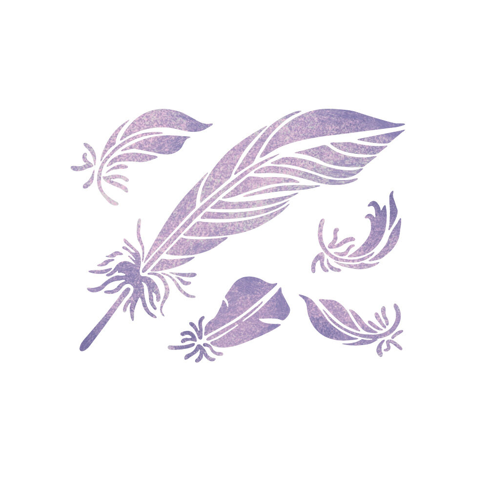 feathers stencil reusable stencils for diy home decor favorite flower stencil small diy home decor