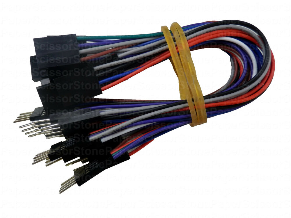 4 Pin Cable Arduino : Inch pin female male arduino jumper cables