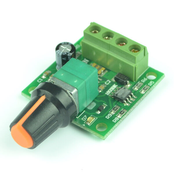 Low voltage dc 1 8v 3v 5v 6v 12v 2a motor speed controller for Low speed dc motor 0 5 6 volt