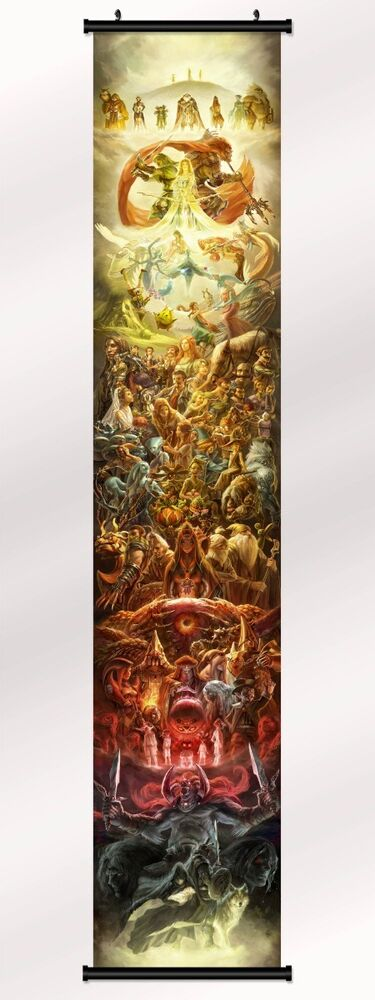Fabric Wall Posters : The legend of zelda th anniversary fabric poster with